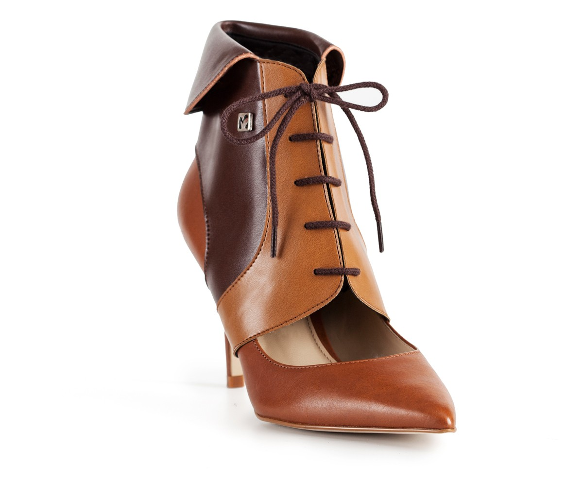 high heel ankle boots collari ankle camel brown