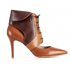 High heel ankle boots - Collari Ankle Camel/Brown