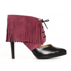Sharon Fringe Bordeaux Red